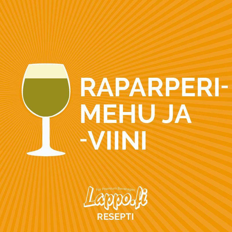 Raparperimehu ja -viini