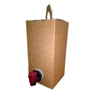 Ruskea laatikko 1,5 l Bag in Box -hanapakkaukselle