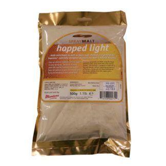 Humaloitu vaalea spraymallas Muntons Hopped Light