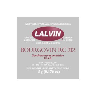 Kuivattu viinihiiva Lalvin Bourgovin RC 212