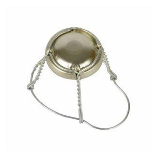 Samppanjapullon hattu 38x29,5mm, metalli 100 kpl