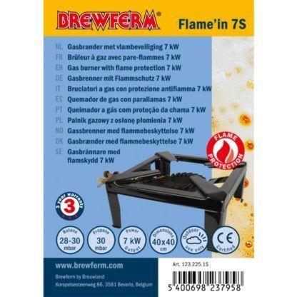 Kaasupoltin Brewferm Flame'in 7S