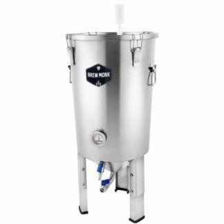 Kartiomallinen käymisastia ruostumatonta terästä Brew Monk 30 litraa