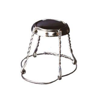 Samppanjapullon hattu 38x26,5mm, musta 1 000 kpl